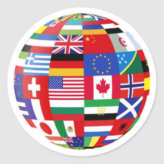 world globe stickers zazzle. Black Bedroom Furniture Sets. Home Design Ideas