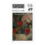 World of hearts III Postage Stamps