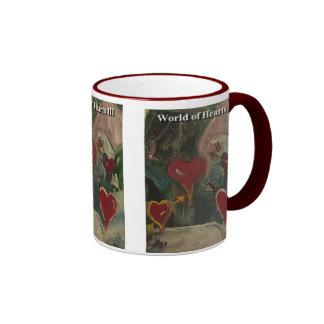 World of hearts III Ringer Mug