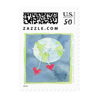 World of Love - Postage Stamp