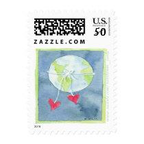 World of Love - Postage Stamp