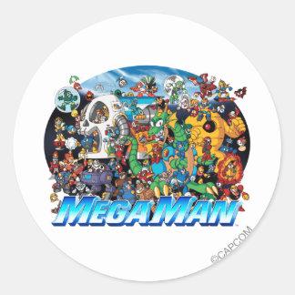 World of Mega Man Classic Round Sticker