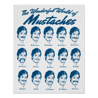 World of Mustaches Poster