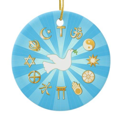 World of Peace Ceramic Ornament