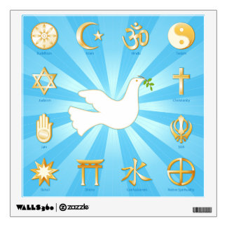 World of Peace Wall Decal