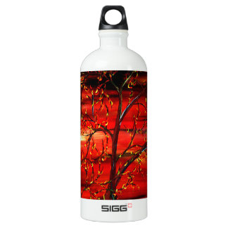 World Of Red Water Bottle