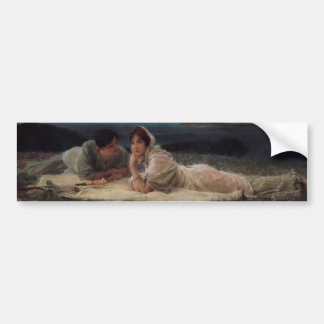 World of Their Own by Sir Lawrernce Alma-Tadema Bumper Sticker