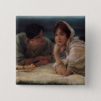 World of Their Own by Sir Lawrernce Alma-Tadema Pinback Button