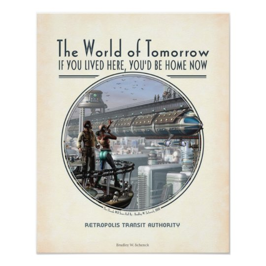 "World of Tomorrow poster (16x20"")"