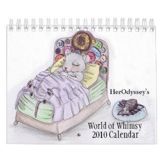 World of Whimsy, 2010 Calendar, Calendar