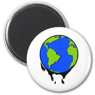 World Oil Biofuel 2 Inch Round Magnet
