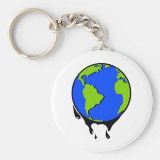 World Oil Biofuel Basic Round Button Keychain