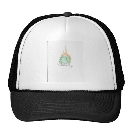 World on fire trucker hat
