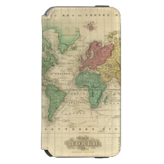 World on Mercators Projection 2 iPhone 6/6s Wallet Case