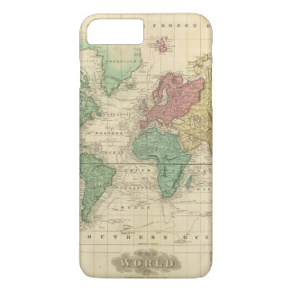 World on Mercators Projection 2 iPhone 8 Plus/7 Plus Case