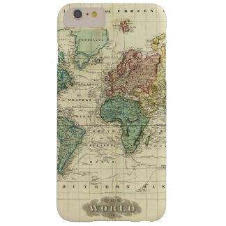 World on Mercators Projection Barely There iPhone 6 Plus Case