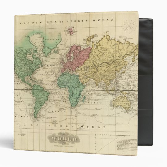 World on Mercators Projection Binder