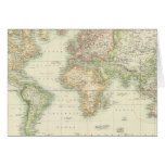 World On Mercator's Projection Card