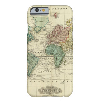 World on Mercators Projection Barely There iPhone 6 Case