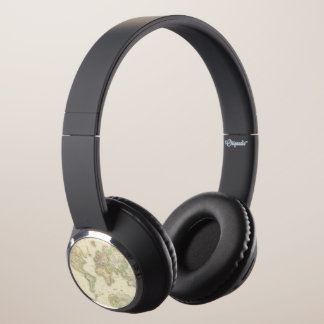 World On Mercator's Projection Headphones