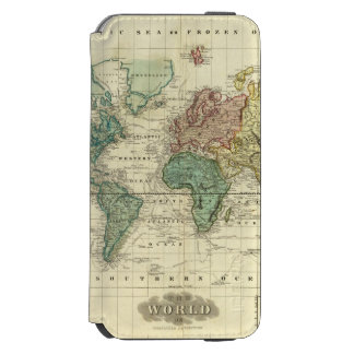 World on Mercators Projection iPhone 6/6s Wallet Case