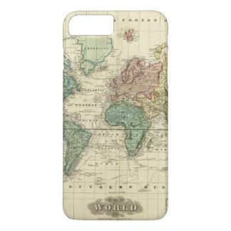 World on Mercators Projection iPhone 8 Plus/7 Plus Case