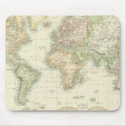 World On Mercator's Projection Mouse Pad