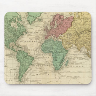 World on Mercators Projection Mouse Pad