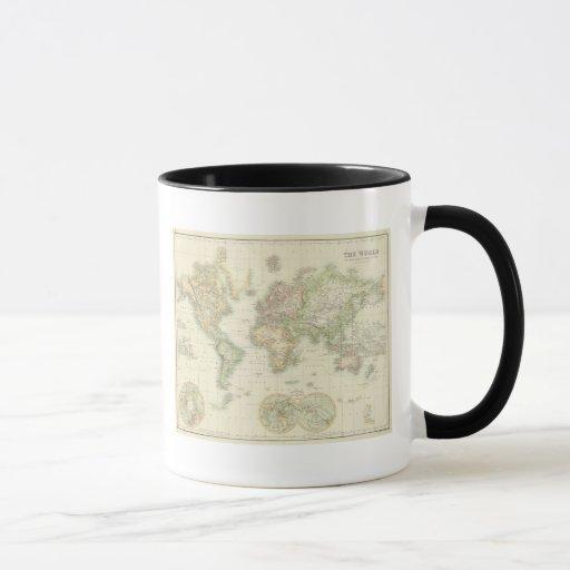 World On Mercator's Projection Mug