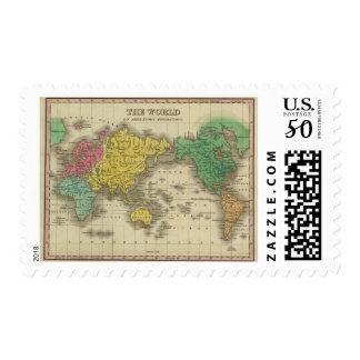 World On Mercator's Projection Postage