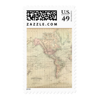 World on Mercator's Projection Stamps