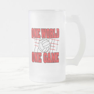 World One Game Volleyball Coffee Mugs
