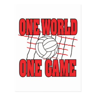 World One Game Volleyball Postcard