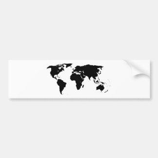 World Outline Bumper Sticker