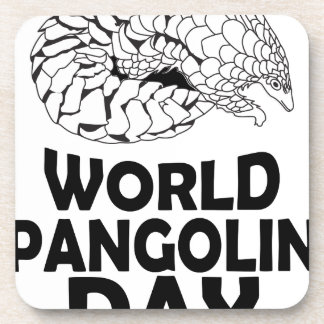 World Pangolin Day - 18th February Beverage Coaster