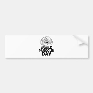 World Pangolin Day - 18th February Bumper Sticker