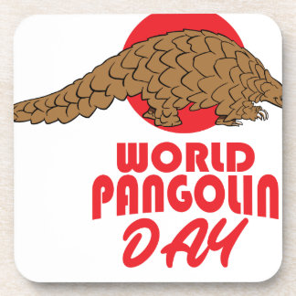 World Pangolin Day - Appreciation Day Drink Coaster