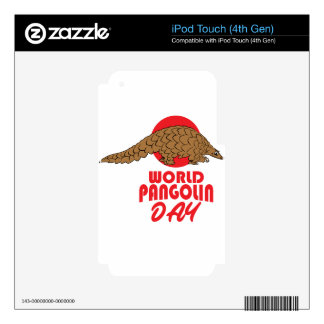 World Pangolin Day - Appreciation Day iPod Touch 4G Decal