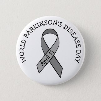 World Parkinson's Disease Day April 11th Button