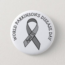 World Parkinson's Disease Day April 11th Button