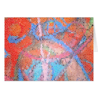 World Party Stained Glass Card