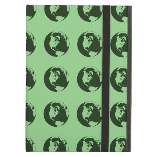 World Pattern green iPad Air Cover
