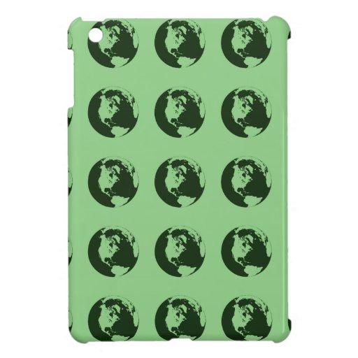 World Pattern green iPad Mini Cases