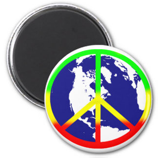 World Peace 2 Inch Round Magnet