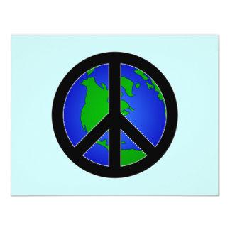 World Peace 4.25x5.5 Paper Invitation Card