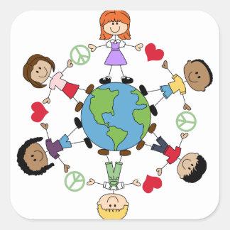 World Peace And Love Square Sticker