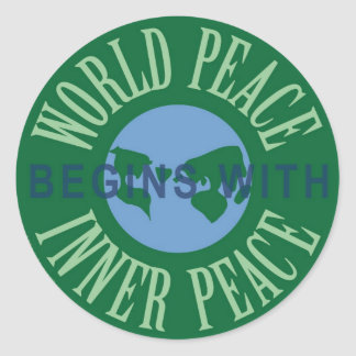 World Peace Begins With Inner Peace Sticker Sheet
