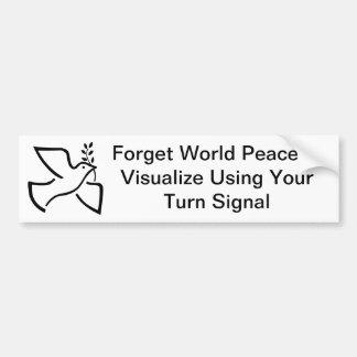 World Peace Bumper Sticker