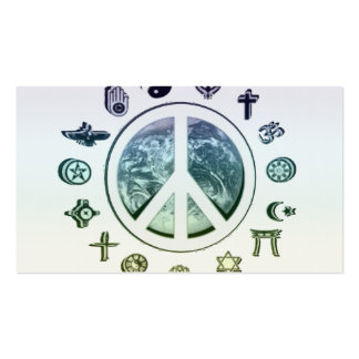 World Peace Business Card Template