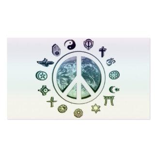 World Peace Business Card Templates